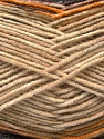 Conţinut de fibre 45% Lână, 45% Bamboo, 10% Acrilic, Brand Ice Yarns, Grey, Gold, Brown, Beige, Yarn Thickness 3 Light  DK, Light, Worsted, fnt2-44527