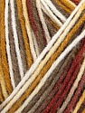Composição 100% Acrílico, White, Khaki, Brand Ice Yarns, Gold, Copper, Yarn Thickness 2 Fine  Sport, Baby, fnt2-44742