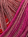 Please note that this is a self-striping yarn. Please see the package photo for the color change Fiber Content 100% Acrylic, Salmon, Red, Maroon, Brand Ice Yarns, Fuchsia, Yarn Thickness 2 Fine  Sport, Baby, fnt2-44747