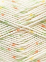 Fiber Content 100% Acrylic, Yellow, White, Salmon, Brand Ice Yarns, Green, Yarn Thickness 2 Fine  Sport, Baby, fnt2-44778