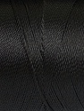 Fiber Content 100% Polyester, Brand Ice Yarns, Black, Yarn Thickness 0 Lace  Fingering Crochet Thread, fnt2-44821