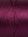 Fiber Content 100% Polyester, Maroon, Brand Ice Yarns, Yarn Thickness 0 Lace  Fingering Crochet Thread, fnt2-44841
