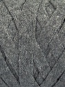 Fiber Content 100% Recycled Cotton, Brand Ice Yarns, Grey Melange, Yarn Thickness 6 SuperBulky  Bulky, Roving, fnt2-44883