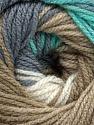 Contenido de fibra 100% Acrílico Premium, White, Turquoise, Brand Ice Yarns, Green, Camel, fnt2-44920