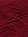 Fiber Content 55% Cotton, 45% Acrylic, Brand Ice Yarns, Burgundy, Yarn Thickness 4 Medium  Worsted, Afghan, Aran, fnt2-45146
