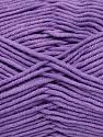 Fiber Content 55% Cotton, 45% Acrylic, Lilac, Brand Ice Yarns, Yarn Thickness 4 Medium  Worsted, Afghan, Aran, fnt2-45158