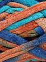 Fiber Content 70% Cotton, 30% Polyamide, Turquoise, Salmon, Brand Ice Yarns, Blue, Yarn Thickness 6 SuperBulky  Bulky, Roving, fnt2-45184