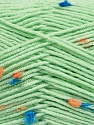 Fiber Content 87% Antipilling Acrylic, 13% Polyester, Orange, Light Green, Brand Ice Yarns, Blue, Yarn Thickness 3 Light  DK, Light, Worsted, fnt2-45196
