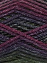 Composição 90% Acrílico, 10% Poliamida, Purple, Maroon, Brand Ice Yarns, Green, Burgundy, Yarn Thickness 4 Medium  Worsted, Afghan, Aran, fnt2-45229