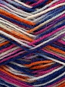 Fiber Content 75% Superwash Wool, 25% Polyamide, White, Pink, Orange, Brand Ice Yarns, Blue, Yarn Thickness 1 SuperFine  Sock, Fingering, Baby, fnt2-45336