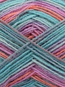 Conţinut de fibre 75% Superwash Wool, 25% Poliamidă, Turquoise, Salmon, Pink, Lilac, Khaki, Brand Ice Yarns, fnt2-45744