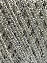 Fiberinnehåll 95% Viskos, 5% metalliskt Lurex, White, Silver, Brand Ice Yarns, fnt2-45785