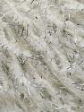 Contenido de fibra 70% Poliamida, 18% Metálicos Lurex, 12% Kid Mohair, White, Silver, Brand Ice Yarns, fnt2-45793