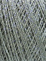 Fiberinnhold 80% Bomull, 20% Metallisk Lurex, Light Grey, Brand Ice Yarns, fnt2-46146