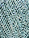 Fiberinnhold 80% Bomull, 20% Metallisk Lurex, Light Turquoise, Brand Ice Yarns, fnt2-46147