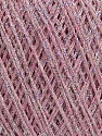 Fiberinnhold 80% Bomull, 20% Metallisk Lurex, Light Pink, Brand Ice Yarns, fnt2-46148