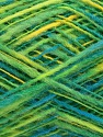 Fiber Content 50% Acrylic, 50% Wool, Yellow, Turquoise, Brand Ice Yarns, Green, fnt2-46216