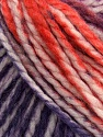 Fiber Content 75% Acrylic, 25% Wool, White, Purple, Orange, Maroon, Brand Ice Yarns, Yarn Thickness 5 Bulky  Chunky, Craft, Rug, fnt2-46229