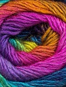 Fiber Content 50% Acrylic, 50% Wool, Rainbow, Brand Ice Yarns, Yarn Thickness 2 Fine  Sport, Baby, fnt2-46282