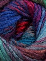 Fiber Content 60% Wool, 40% Acrylic, Red, Purple, Brand Ice Yarns, Green, Blue, Yarn Thickness 4 Medium  Worsted, Afghan, Aran, fnt2-46287