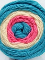Fiber Content 100% Acrylic, White, Turquoise, Pink, Brand Ice Yarns, fnt2-46408