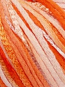 Fiber Content 79% Cotton, 21% Viscose, White, Orange Shades, Brand Ice Yarns, Yarn Thickness 3 Light  DK, Light, Worsted, fnt2-46411