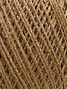 Fiber Content 90% Cotton, 10% Metallic Lurex, Brand Ice Yarns, Gold, fnt2-46433