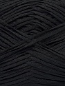 Fiber indhold 100% Bomuld, Brand Ice Yarns, Black, Yarn Thickness 2 Fine  Sport, Baby, fnt2-46461