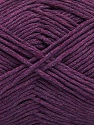 Please note that the yarn weight and the ball length may vary from one color to another for this yarn. Contenido de fibra 100% Algodón, Purple, Brand Ice Yarns, fnt2-46490