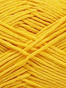 Please note that the yarn weight and the ball length may vary from one color to another for this yarn. Composição 100% Algodão, Yellow, Brand Ice Yarns, Yarn Thickness 3 Light  DK, Light, Worsted, fnt2-46494