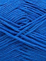Please note that the yarn weight and the ball length may vary from one color to another for this yarn. Composição 100% Algodão, Brand Ice Yarns, Blue, Yarn Thickness 3 Light  DK, Light, Worsted, fnt2-46498