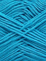 Please note that the yarn weight and the ball length may vary from one color to another for this yarn. Composição 100% Algodão, Light Turquoise, Brand Ice Yarns, Yarn Thickness 3 Light  DK, Light, Worsted, fnt2-46500