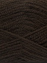 Fiber Content 100% Premium Acrylic, Brand Ice Yarns, Dark Brown, Yarn Thickness 3 Light  DK, Light, Worsted, fnt2-46504