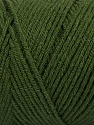 Items made with this yarn are machine washable & dryable. Fiber Content 100% Dralon Acrylic, Brand ICE, Dark Green, Yarn Thickness 4 Medium  Worsted, Afghan, Aran, fnt2-47396