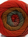 Fiber Content 90% Acrylic, 10% Polyamide, Red, Brand Ice Yarns, Grey, Copper, Yarn Thickness 4 Medium  Worsted, Afghan, Aran, fnt2-48011