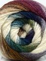 Fiber Content 90% Acrylic, 10% Polyamide, White, Purple, Brand Ice Yarns, Green, Blue, Yarn Thickness 4 Medium  Worsted, Afghan, Aran, fnt2-48012