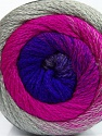 Fiber Content 90% Acrylic, 10% Polyamide, Purple, Brand Ice Yarns, Grey, Fuchsia, Yarn Thickness 4 Medium  Worsted, Afghan, Aran, fnt2-48014
