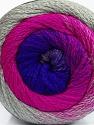 Fiber Content 90% Acrylic, 10% Polyamide, Purple, Brand Ice Yarns, Grey, Fuchsia, Yarn Thickness 4 Medium  Worsted, Afghan, Aran, fnt2-48014