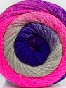 Fiber Content 90% Acrylic, 10% Polyamide, Purple, Pink, Brand Ice Yarns, Grey, Yarn Thickness 4 Medium  Worsted, Afghan, Aran, fnt2-48015