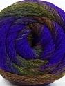 Fiber Content 90% Acrylic, 10% Polyamide, Purple, Navy, Brand Ice Yarns, Dark Green, Brown, Yarn Thickness 4 Medium  Worsted, Afghan, Aran, fnt2-48016