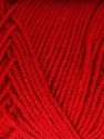 Items made with this yarn are machine washable & dryable. Fiber Content 100% Dralon Acrylic, Red, Brand ICE, Yarn Thickness 4 Medium  Worsted, Afghan, Aran, fnt2-48601