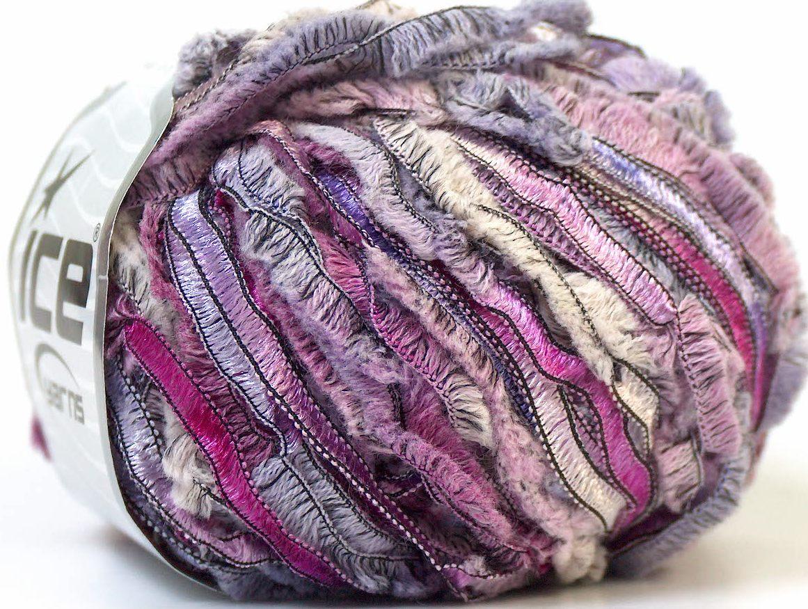 Nordic Wool White Purple Lilac Fuchsia, Eyelash Yarns | Ice Yarns ...