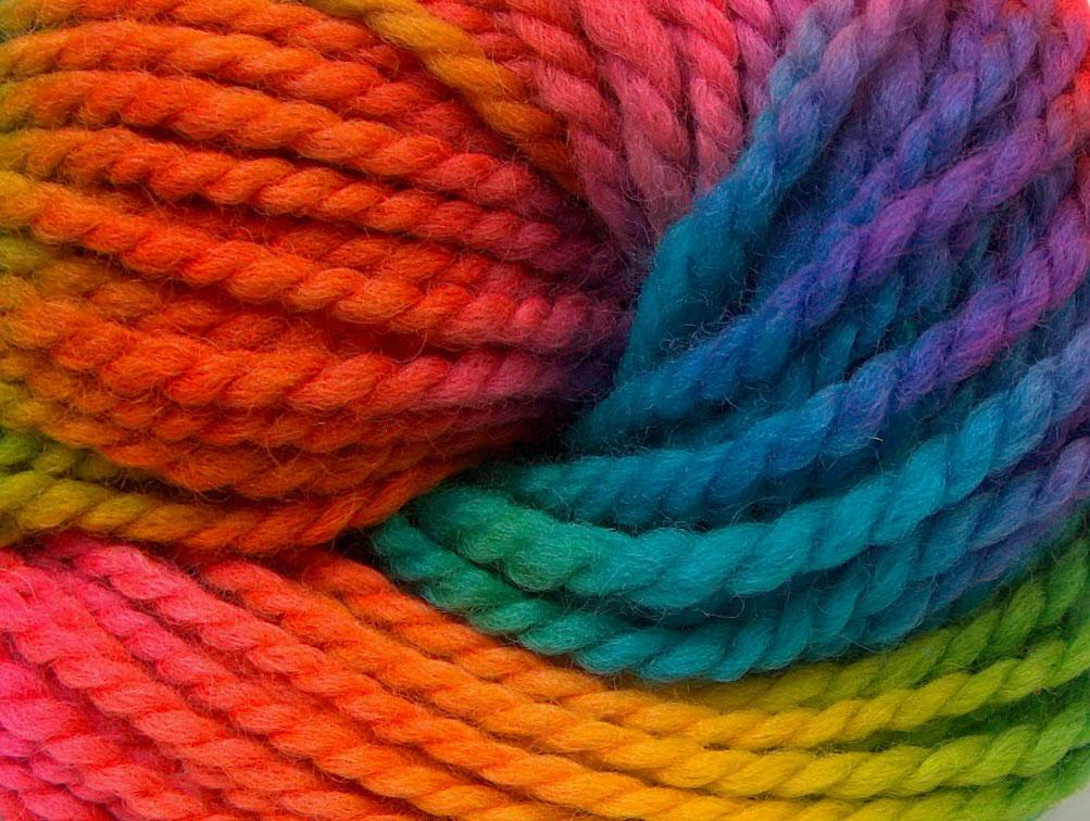 Hand-Dyed Wool Bulky Rainbow, Fall - Winter Yarns | Ice ...
